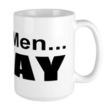 Real Men Pray Ceramic Mugs