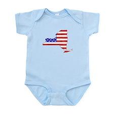 New York Flag Infant Bodysuit