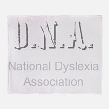 D.N.A. National Dyslexia Association Throw Blanket