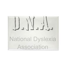 D.N.A. National Dyslexia Associat Rectangle Magnet