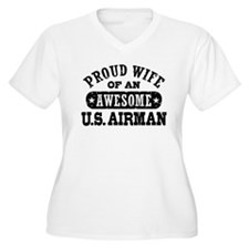 Proud Wife of an Awesome US Airman T-Shirt