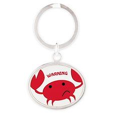 crabby Oval Keychain