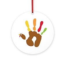 turkeyhand_dark Round Ornament
