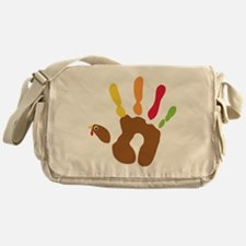 turkeyhand_dark Messenger Bag