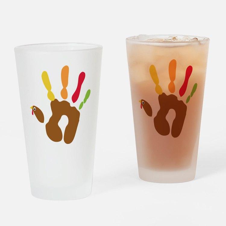 turkeyhand_dark Drinking Glass