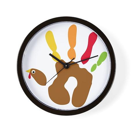 turkeyhand_dark Wall Clock