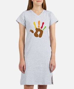 turkeyhand_dark Women's Nightshirt