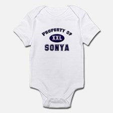 Property of sonya Infant Bodysuit