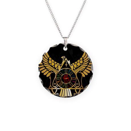 egyptiansquare Necklace Circle Charm