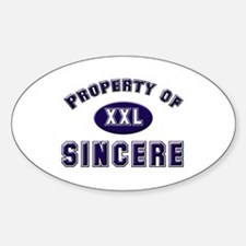 Property of sincere Oval Decal