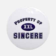 Property of sincere Ornament (Round)