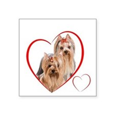 "YorkieLove2 Square Sticker 3"" x 3"""