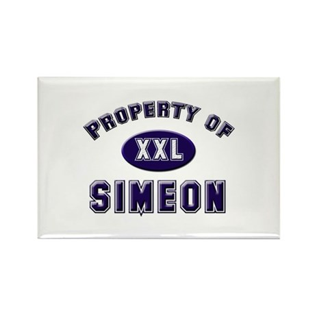 Property of simeon Rectangle Magnet