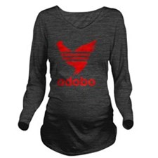 adob-red Long Sleeve Maternity T-Shirt