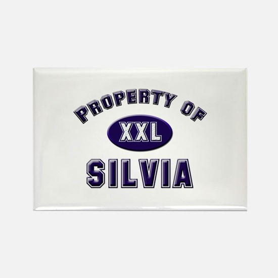 Property of silvia Rectangle Magnet