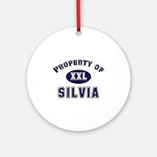 Property of silvia Ornament (Round)
