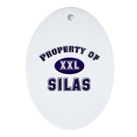 Property of silas Oval Ornament