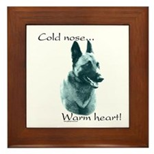 Malinois Warm Heart Framed Tile