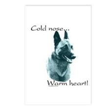 Malinois Warm Heart Postcards (Package of 8)