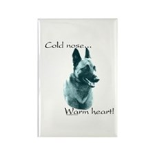 Malinois Warm Heart Rectangle Magnet