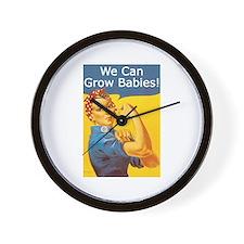 We Can Grow Babies! Wall Clock