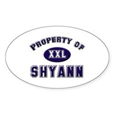 Property of shyann Oval Decal