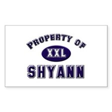 Property of shyann Rectangle Decal