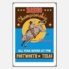 Rodeo Bull Riding Poster Banner