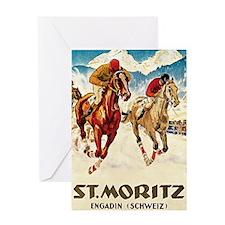 St Moritz Engadin Schweiz 1 Greeting Card