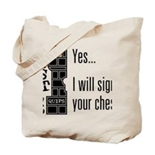 Quips_SignChest_light-crop Tote Bag