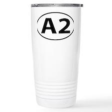 Ann Arbor A2 Michigan Oval Travel Mug
