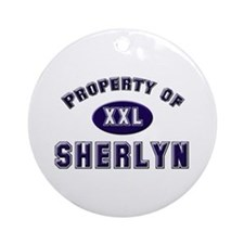 Property of sherlyn Ornament (Round)