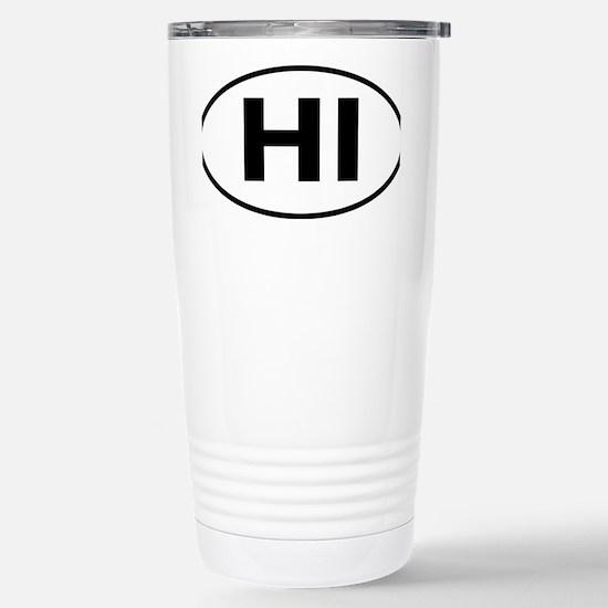 Hawaii HI oval Stainless Steel Travel Mug