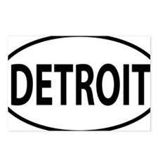 Detroit oval Postcards (Package of 8)