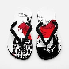 B9_FIGHT_LIKE_GIRL_01 Flip Flops