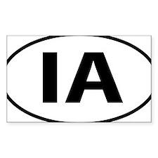 Iowa IA oval Decal
