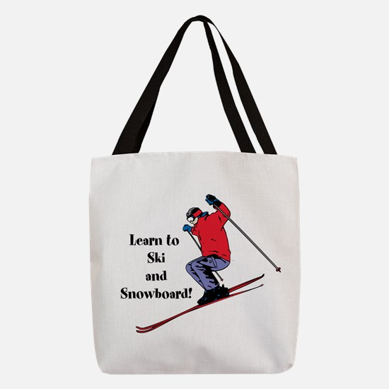 Learn to Ski and Snowboard Month Polyester Tote Ba