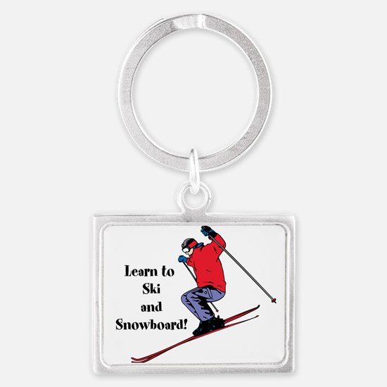 Learn to Ski and Snowboard Month Keychains