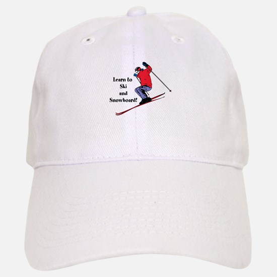 Learn to Ski and Snowboard Month Baseball Cap