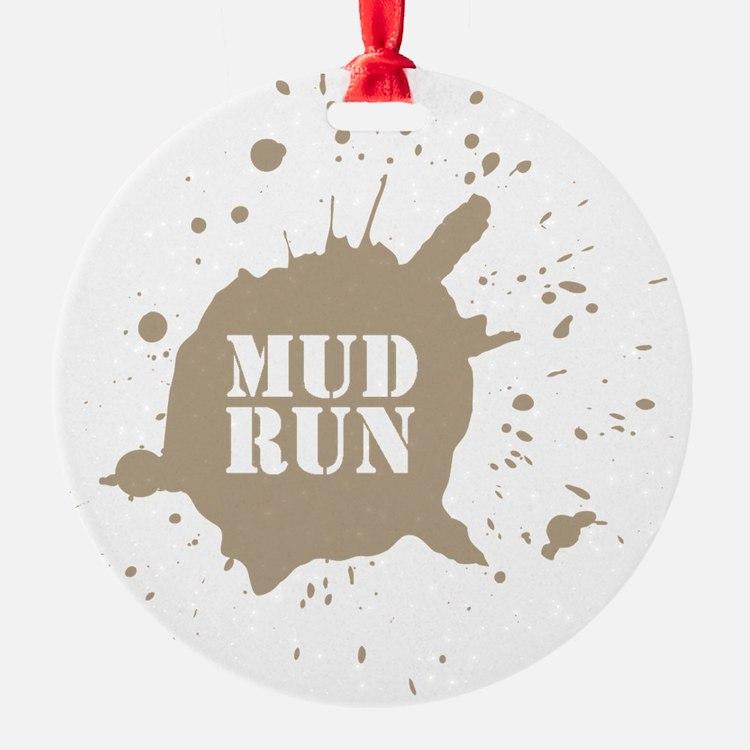 mud run brown Ornament