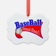 BaseBall Grand Slam 2 Red Blue Ornament