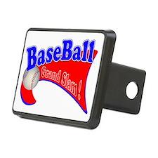 BaseBall Grand Slam 2 Red  Rectangular Hitch Cover