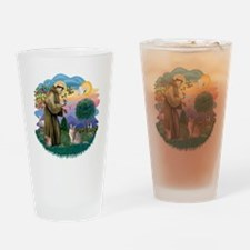 St Francis (ff) - Blue Abyssinian c Drinking Glass