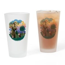 St Francis (ff) - Maine Coon cat 10 Drinking Glass