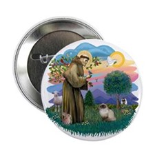 "St Francis (ff) - Seal Point Himalaya 2.25"" Button"