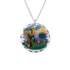 St francis (ff) - Tabby Tige Necklace