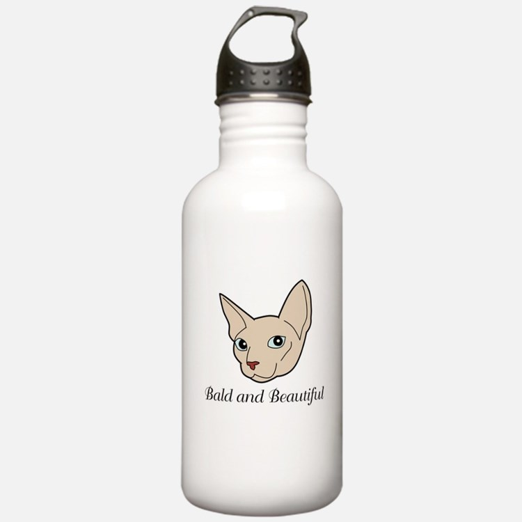 Baldy Cat Water Bottle