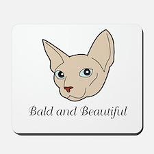 Baldy Cat Mousepad