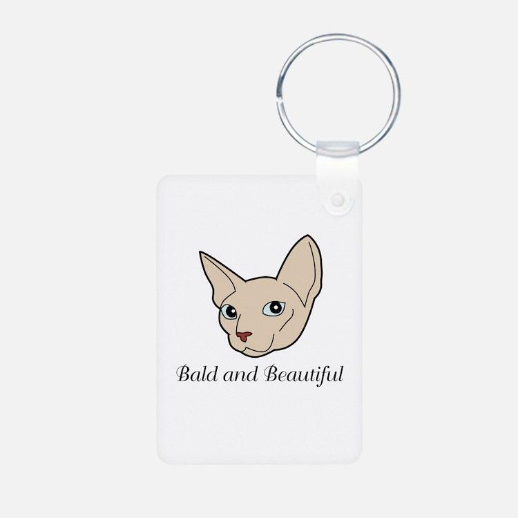 Baldy Cat Keychains