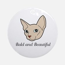 Baldy Cat Ornament (Round)